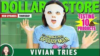 10 WEIRD DOLLAR STORE ITEMS!!!     VIVIAN TRIES