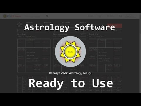 RVA Telugu Astrology Software | Westren, Vedic, KP Astrology Software