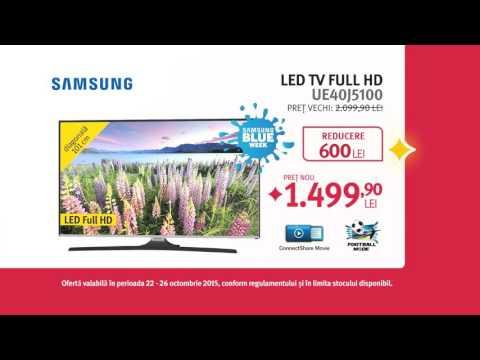Reclamă ALTEX Samsung Blue Week - octombrie 2015