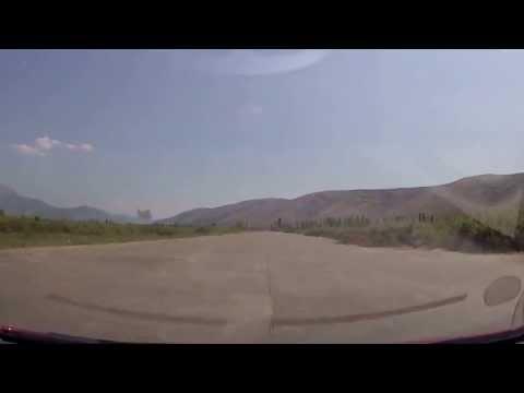 Abadoned air strip in Gjadër