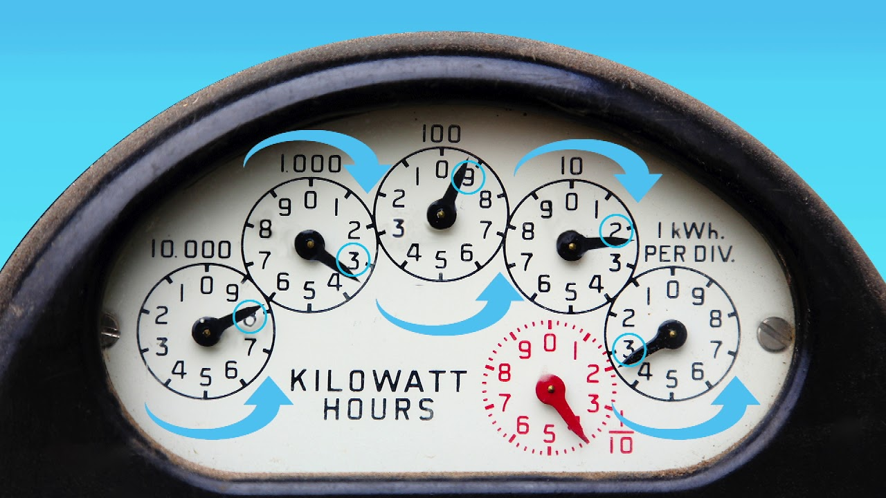 How To Read A Dial Electricity Meter British Gas Business Youtube