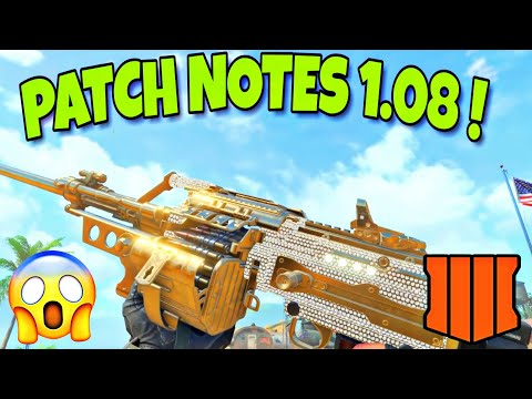 *NEW* COD BO4 1.08 UPDATE PATCH NOTES! STIM SHOT BUFF, SPAWN FIXES & MORE! (1.08 UPDATE COD BO4)