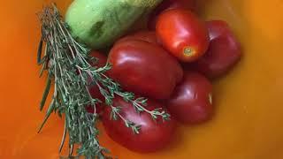 Рыба дори, запеченная с овощами и тимьяном в аэрогриле