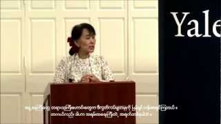 Daw Aung San Suu Kyi  Speech at Yale with Myanmar Substitle