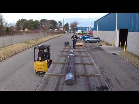 #46 Loading Steel Rods The Life of an Owner Operator Flatbed Truck Driver Vlog