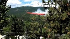 UFO in TV news about the fire in West Kelowna, BC, Canada 17 July 2014