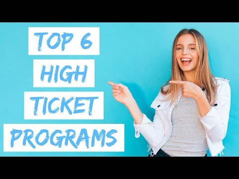 UP TO $7,000 PER SALE! TOP 6 HIGH TICKET AFFILIATE PROGRAMS 2020!