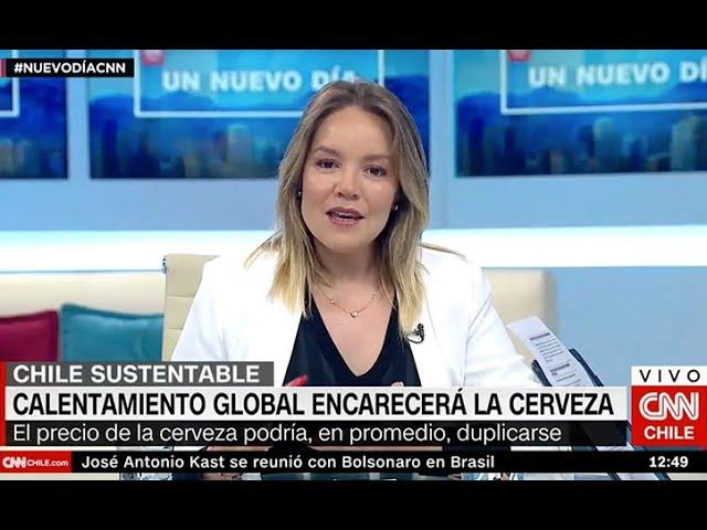 Cata Droguett CNN - Calentamiento global y cerveza
