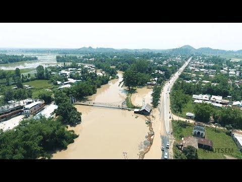 MANIPUR FLOOD 2017 | AERIAL | Thoubal River
