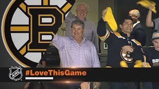 Tedy Bruschi, Ray Bourque fire up crowd at Game 4