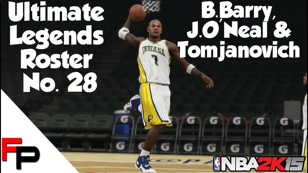 NBA2K15 Brent Barry Prime Jermaine O Neal Rudy Tomjanovich