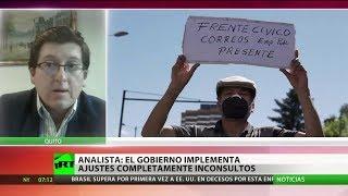 Los recortes en medio de pandemia provocan indignación en Ecuador