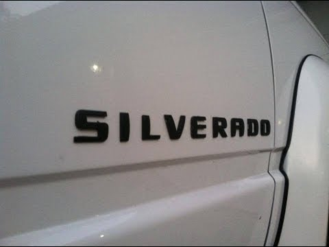 New SILVERADO Emblems - YouTube
