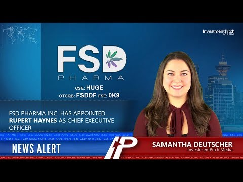 FSD Pharma Inc. has appointed Rupert Haynes as Chief Executive Officer
