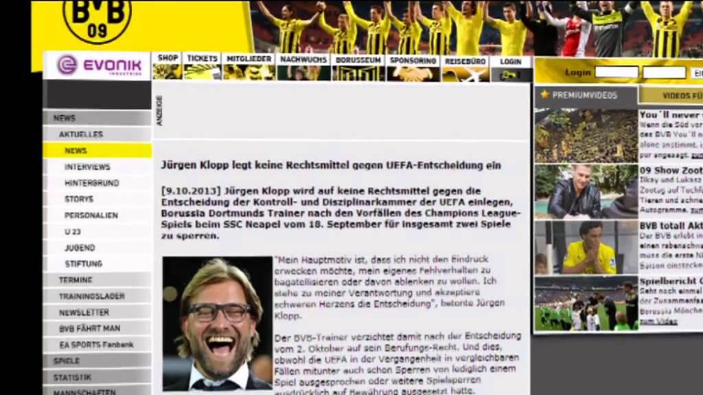 Kein Einspruch: Klopp akzeptiert die verdoppelte Sperre   Arsenal vs.BVB