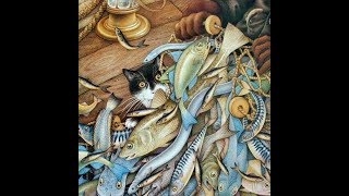 У кошки счастье, целая ванна рыбы