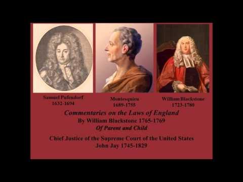 William Blackstone on  Parent and Child 1765-1769