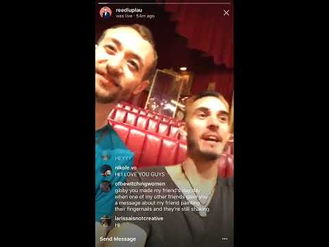 Reed Luplau's Instagram Livestream  83017  Pt. 1