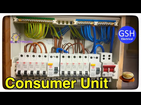 How to Connect up a 10 Way Wylex Dual RCD Consumers Unit (Fuse Box) By Luke Wichard