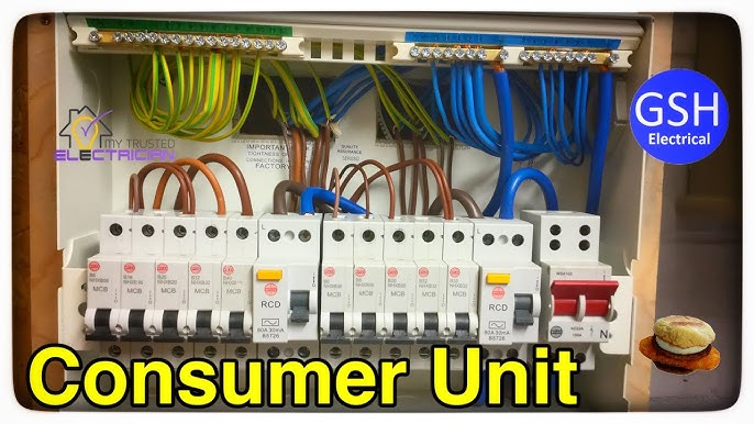 Step by Step How to Connect up a 10 Way Wylex Dual RCD Consumer Unit (Fuse  Box) By Luke Wichard - YouTube | Wylex Fuse Box Rcd |  | YouTube