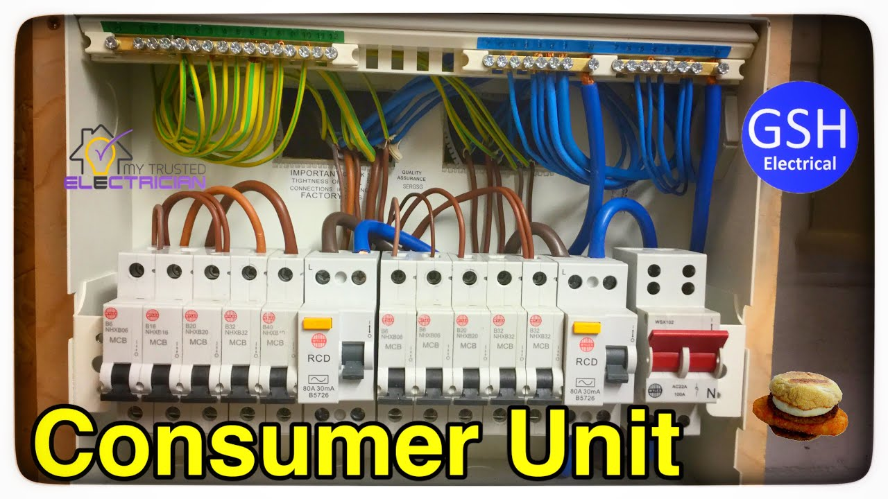 Step by Step How to Connect up a 10 Way Wylex Dual RCD Consumer Unit (Fuse  Box) By Luke Wichard - YouTube | Wylex Fuse Box Mcb |  | YouTube