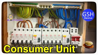 Step by Step How to Connect up a 10 Way Wylex Dual RCD Consumer Unit (Fuse  Box) By Luke Wichard - YouTube | Wylex 4 Way Fuse Box |  | YouTube