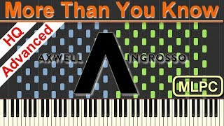 Download Lagu Axwell /\ Ingrosso - More Than You Know I Piano Tutorial & Sheets by MLPC Mp3