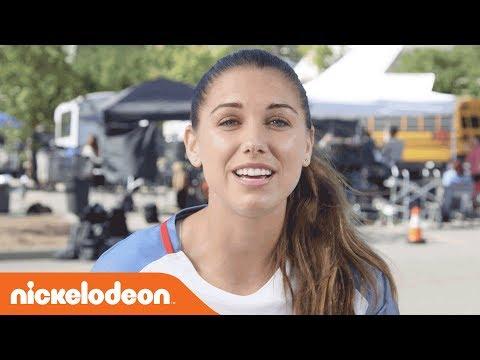 BTS w/ Soccer Superstar Alex Morgan & Siena Agudong ? | Alex & Me | Nick