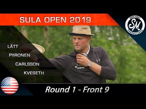 Sula Open 2019 | Round 1 Front 9 | Piironen, Lätt, Carlsson, Kveseth *English*