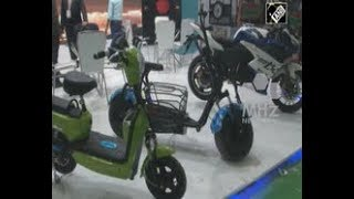India News - Electric vehicle exhibition held in Indian capital New Delhi