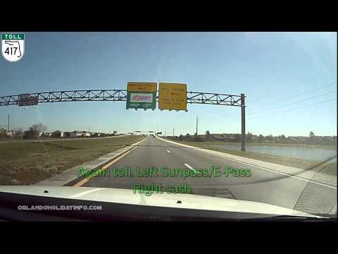 How To Return Your Rental Car At Orlando Intl. Airport (MCO) From US192, Via SR-417 Time Lapse