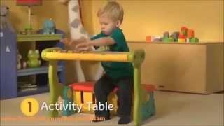 Kids' Practical Multifunction Table Storage Bench Bnm