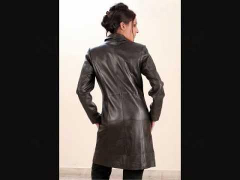 Manteau en cuir pour femme