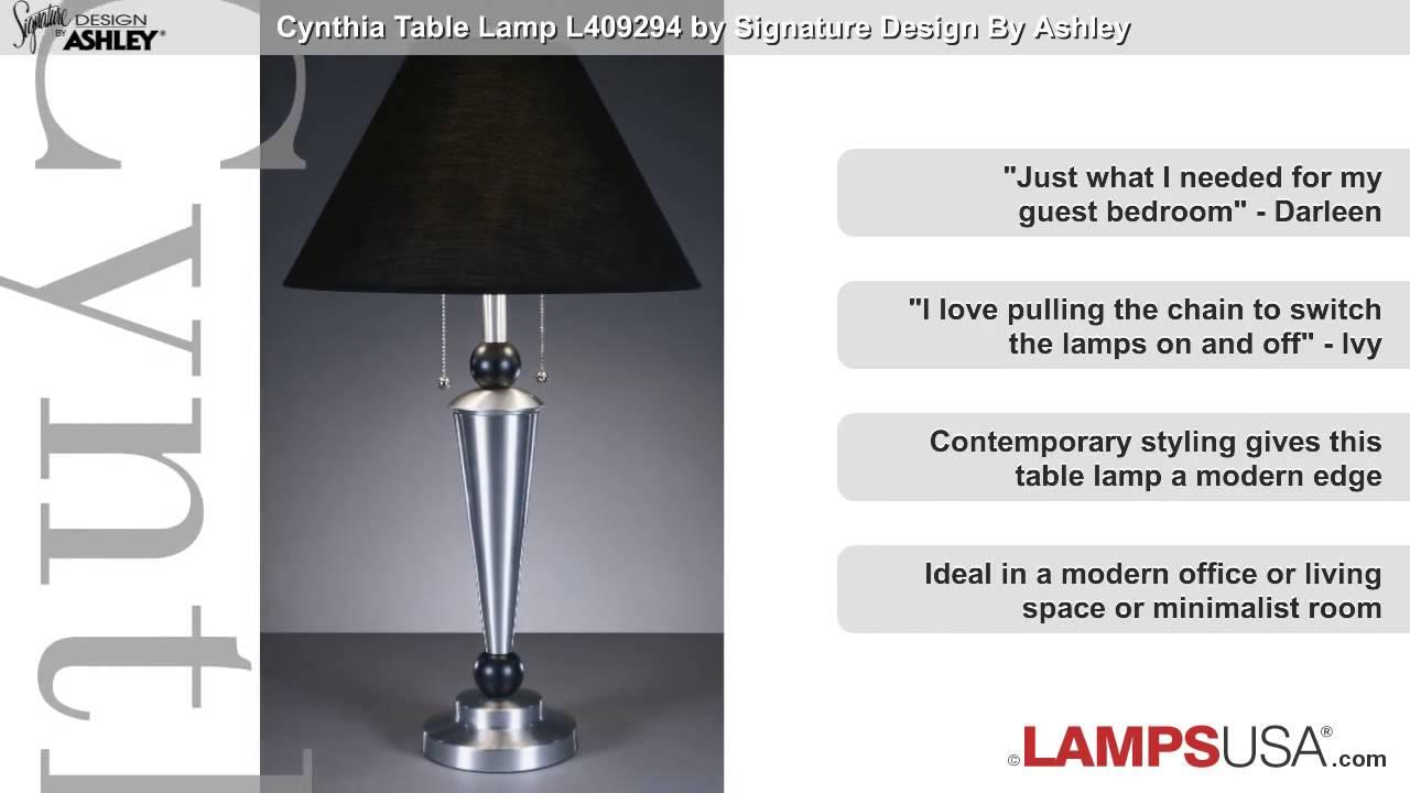 Ashley cynthia table lamp brushed aluminum l409294 youtube ashley cynthia table lamp brushed aluminum l409294 lampsusa aloadofball Image collections
