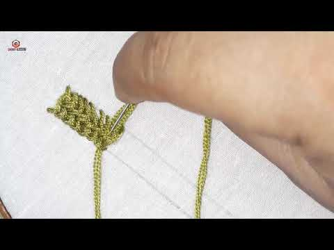 hand embroidery Plaited Braid Stitch video tutorial , simple border design. thumbnail