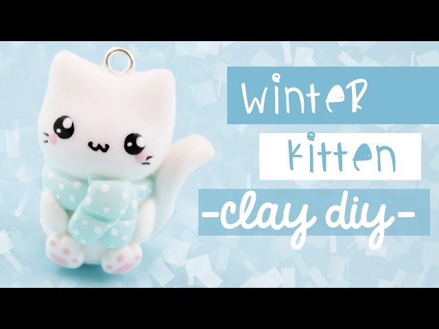 Winter Cat Clay-DIY   Kawaii Friday