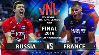Russia v France | Final VNL 2018 | Match Highlights