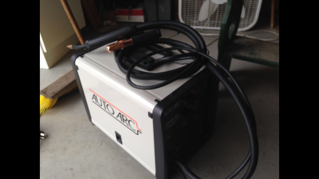 I got my first welder (hobart auto arc 100) - YouTube
