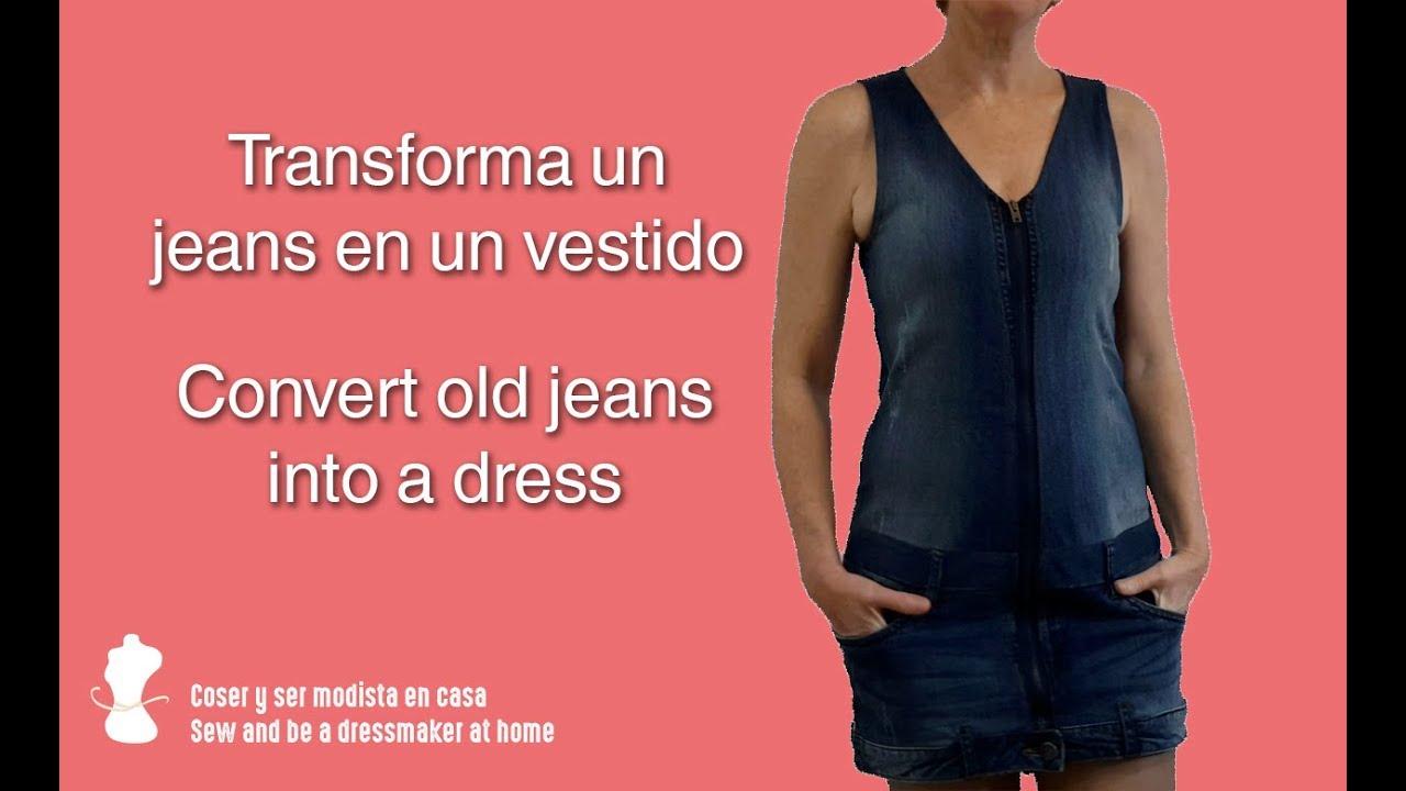 Diy Transforma Jeans O Pantalón Vaquero En Vestido Patrones Gratis