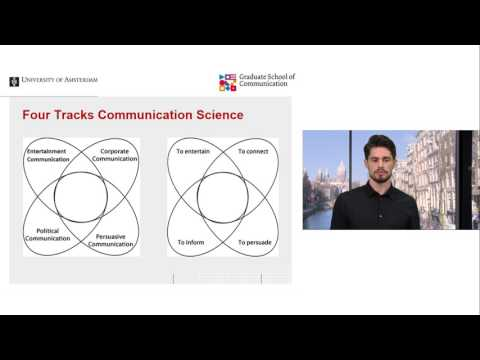 Webinar - Studying Communication Science at the UvA 2017