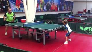 Урок: Грязнов Тимофей 6 лет. Один год тренировок. Настольный теннис (Table tennis)