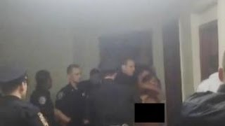 Police Drag Naked Woman Out Of Apartment, Then Arrest Her