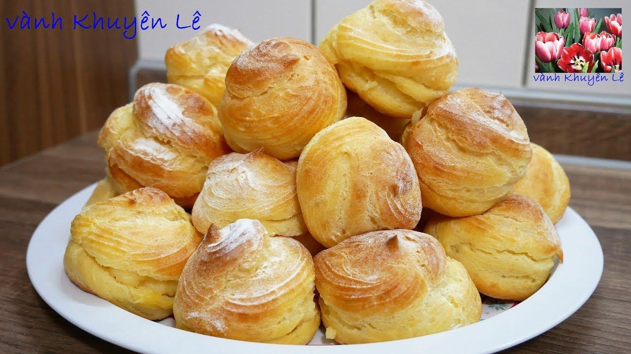SU KEM – Cách làm Bánh Su Kem không cần máy – Choux Pastry đơn giản bất bại by Vanh Khuyen