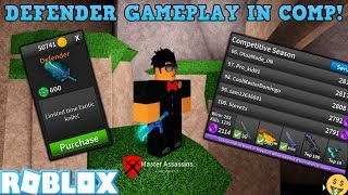 *LIMITED TIME OFFER* DEFENDER KNIFE GAMEPLAY! (ROBLOX ASSASSIN FEBRUARY COMP 2019)