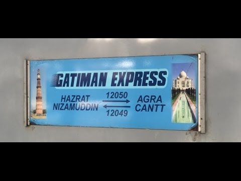 GATIMAN EXPRESS : FULL JOURNEY in EXECUTIVE CLASS onboard the Fastest train of India.(160KMPH)
