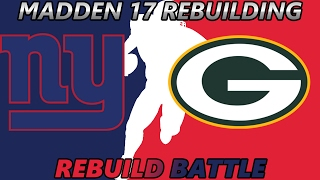 Madden 17 Connected Franchise | REBUILD BATTLE VS. JEROMEPKR! Giants vs. Packers | 2 PERFECT SEASONS