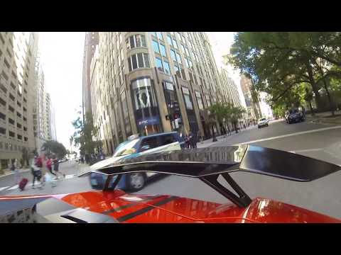 Lamborghini Aventador Loud Exhaust GoPro Peoples reaction in Chicago -1