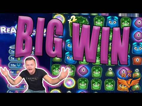 Base Game Big Win on Reactoonz Slot - Casino Stream Big Wins - 동영상