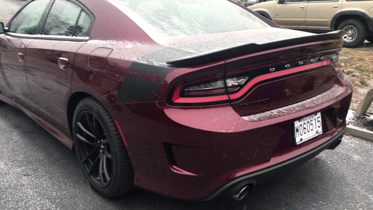 2017 Charger Daytona 392 Cold Start Stock Mufflers Youtube