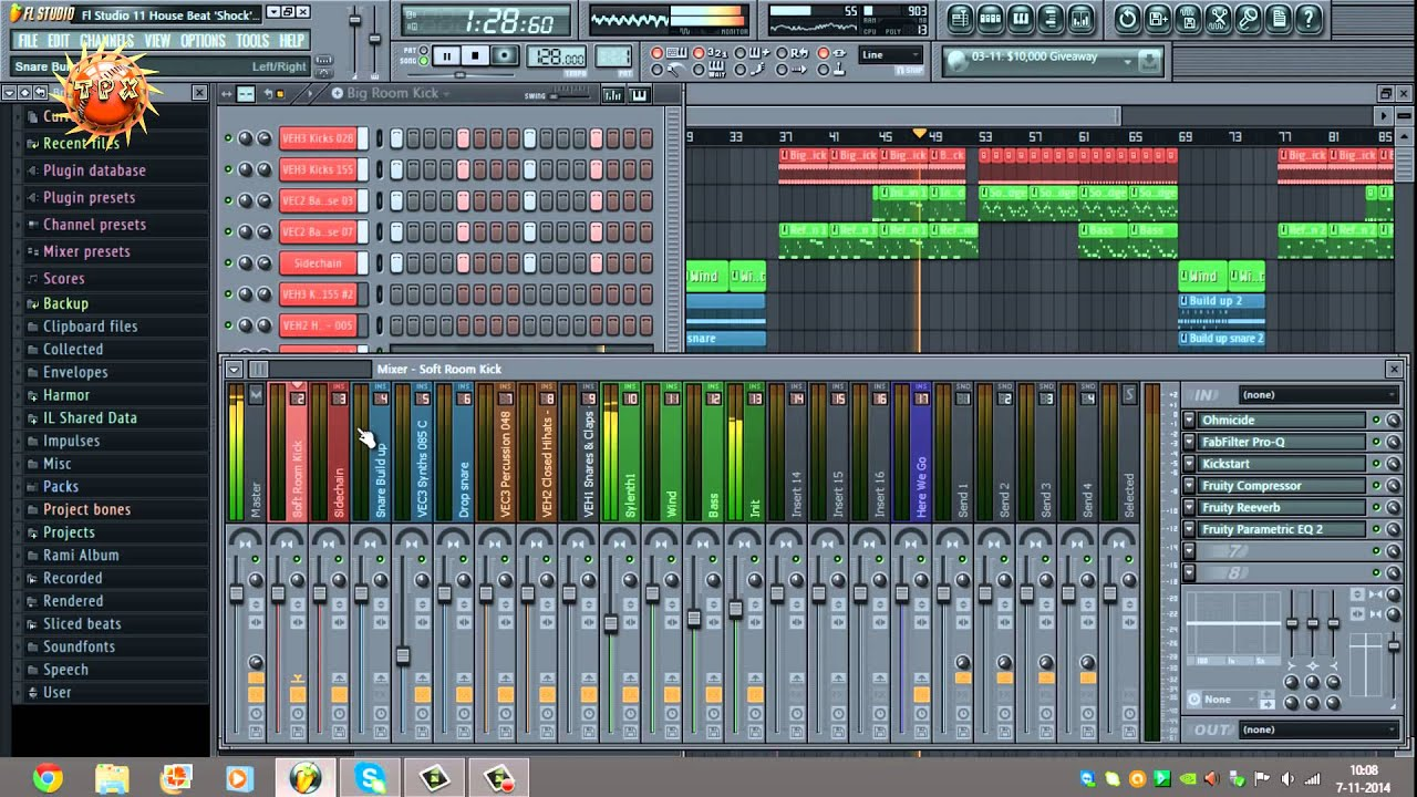 Fl Studio 11 House Beat Shock Youtube